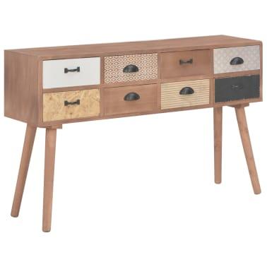 vidaXL Masă consolă cu 8 sertare, 120x30x76 cm, lemn masiv pin[1/9]