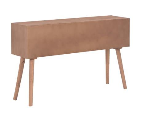 vidaXL Masă consolă cu 8 sertare, 120x30x76 cm, lemn masiv pin[6/9]