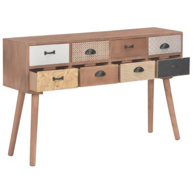vidaXL Masă consolă cu 8 sertare, 120x30x76 cm, lemn masiv pin[2/9]