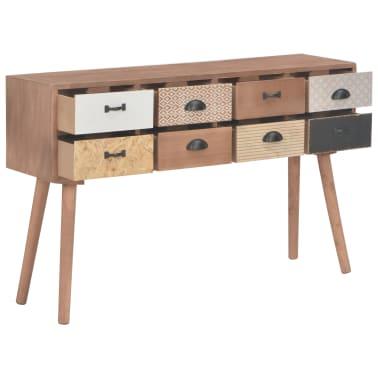 vidaXL Masă consolă cu 8 sertare, 120x30x76 cm, lemn masiv pin[3/9]