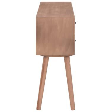 vidaXL Masă consolă cu 8 sertare, 120x30x76 cm, lemn masiv pin[5/9]