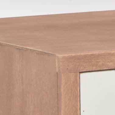 vidaXL Masă consolă cu 8 sertare, 120x30x76 cm, lemn masiv pin[7/9]