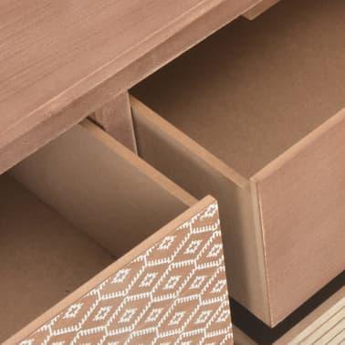 vidaXL Masă consolă cu 8 sertare, 120x30x76 cm, lemn masiv pin[8/9]