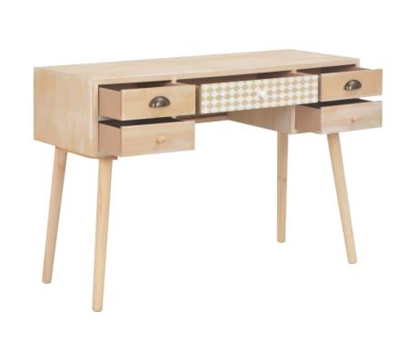 vidaXL Bureau avec 5 tiroirs 114x40x75,5 cm Bois de pin solide[2/8]