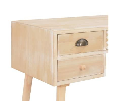 vidaXL Bureau avec 5 tiroirs 114x40x75,5 cm Bois de pin solide[6/8]