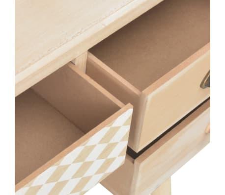 vidaXL Bureau avec 5 tiroirs 114x40x75,5 cm Bois de pin solide[7/8]