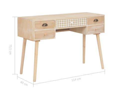 vidaXL Bureau avec 5 tiroirs 114x40x75,5 cm Bois de pin solide[8/8]