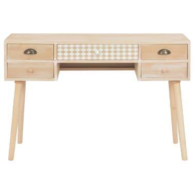 vidaXL Bureau avec 5 tiroirs 114x40x75,5 cm Bois de pin solide[3/8]