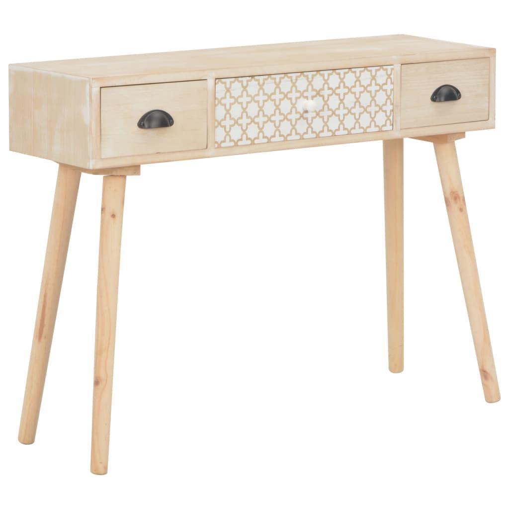 vidaXL Konzolový stolek se 3 zásuvkami 100x30x73 cm masivní borovice