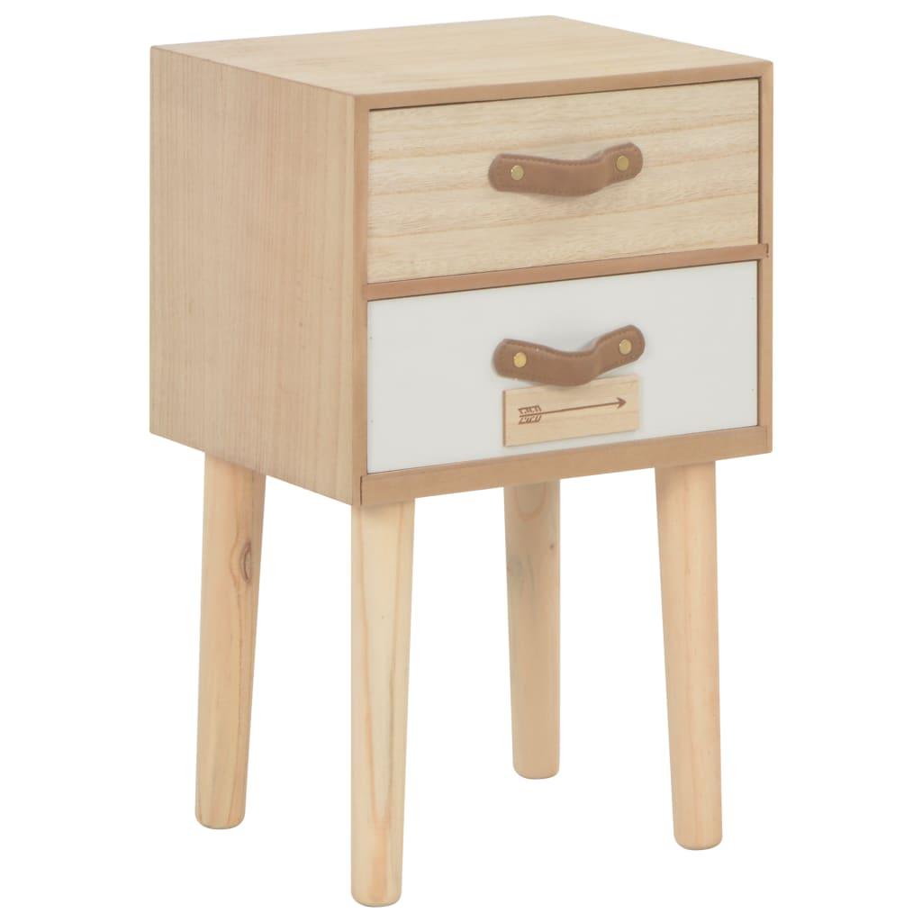 vidaXL Noční stolek se 2 zásuvkami 30 x 25 x 49,5 cm masivní borovice