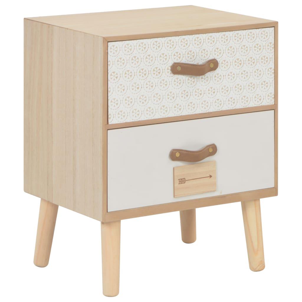 vidaXL Noční stolek se 2 zásuvkami 40 x 30 x 49,5 cm masivní borovice