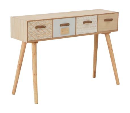 vidaXL Masă consolă cu 4 sertare, 110x30x75 cm, lemn masiv pin