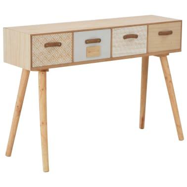 vidaXL Masă consolă cu 4 sertare, 110x30x75 cm, lemn masiv pin[1/8]