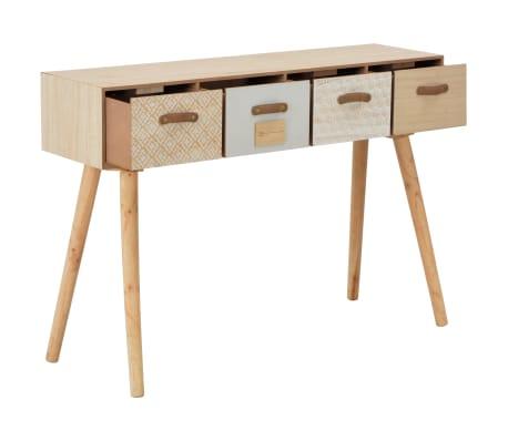 vidaXL Masă consolă cu 4 sertare, 110x30x75 cm, lemn masiv pin[2/8]