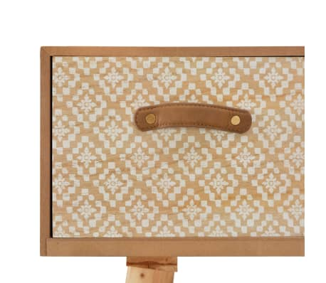 vidaXL Masă consolă cu 4 sertare, 110x30x75 cm, lemn masiv pin[6/8]