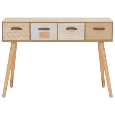 vidaXL Masă consolă cu 4 sertare, 110x30x75 cm, lemn masiv pin[3/8]