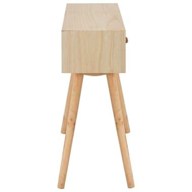 vidaXL Masă consolă cu 4 sertare, 110x30x75 cm, lemn masiv pin[4/8]