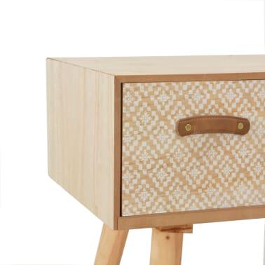 vidaXL Masă consolă cu 4 sertare, 110x30x75 cm, lemn masiv pin[5/8]