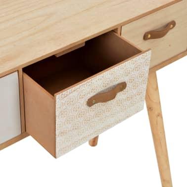 vidaXL Masă consolă cu 4 sertare, 110x30x75 cm, lemn masiv pin[7/8]