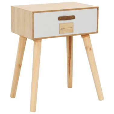 vidaXL Noptieră cu sertar, 44 x 30 x 58,5 cm, lemn masiv de pin[1/7]