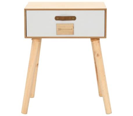 vidaXL Noptieră cu sertar, 44 x 30 x 58,5 cm, lemn masiv de pin[2/7]
