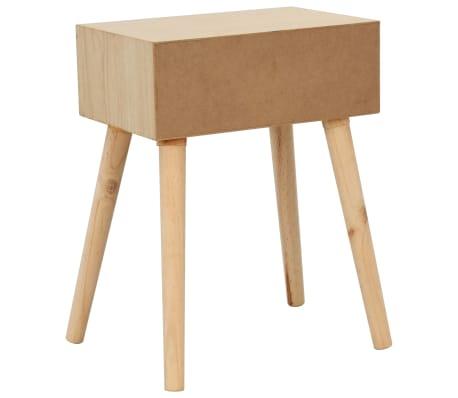 vidaXL Noptieră cu sertar, 44 x 30 x 58,5 cm, lemn masiv de pin[4/7]