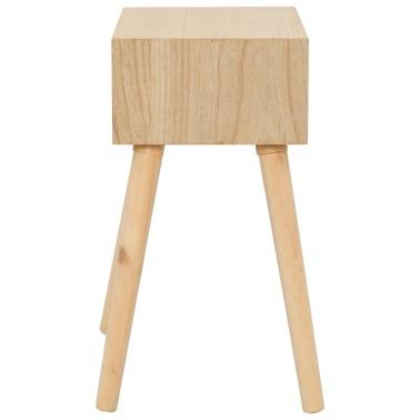vidaXL Noptieră cu sertar, 44 x 30 x 58,5 cm, lemn masiv de pin[3/7]