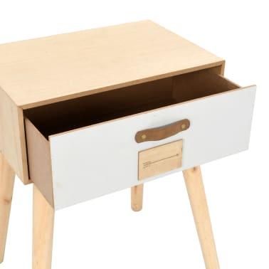 vidaXL Noptieră cu sertar, 44 x 30 x 58,5 cm, lemn masiv de pin[5/7]