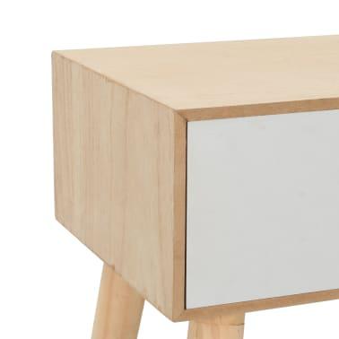 vidaXL Noptieră cu sertar, 44 x 30 x 58,5 cm, lemn masiv de pin[6/7]
