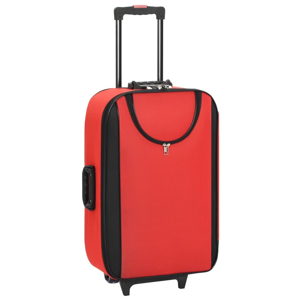 99991769 Weichgepäck Trolley-Set 3-tlg. Rot Oxford-Gewebe