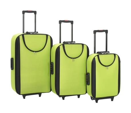 vidaXL Maletas blandas 3 piezas verde de tela oxford[1/9]