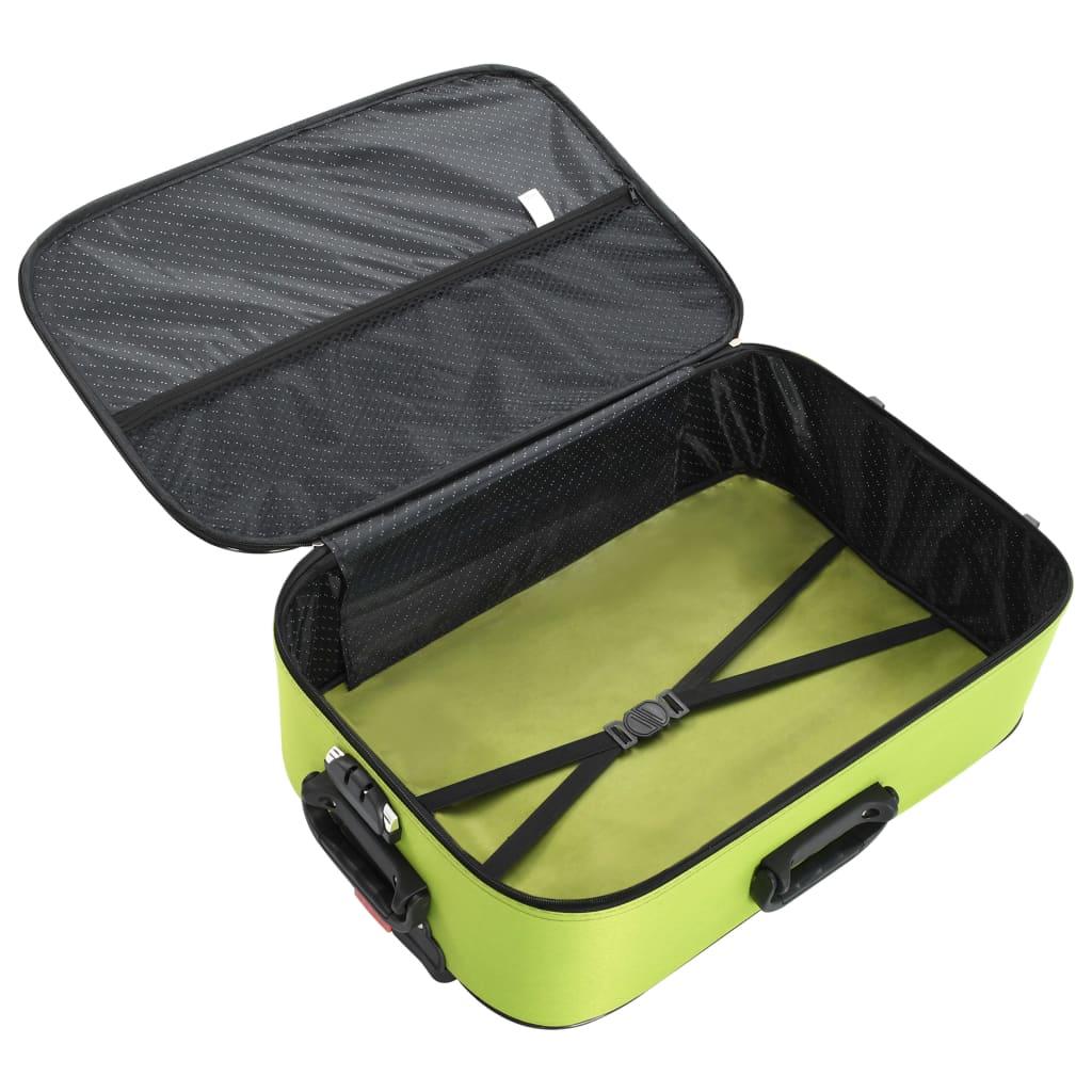 Měkké kufry na kolečkách 3 ks zelené oxfordská látka