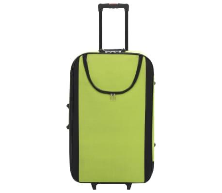 vidaXL Maletas blandas 3 piezas verde de tela oxford[3/9]