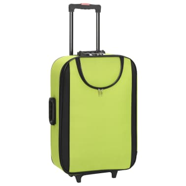 vidaXL Maletas blandas 3 piezas verde de tela oxford[2/9]