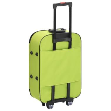 vidaXL Maletas blandas 3 piezas verde de tela oxford[5/9]