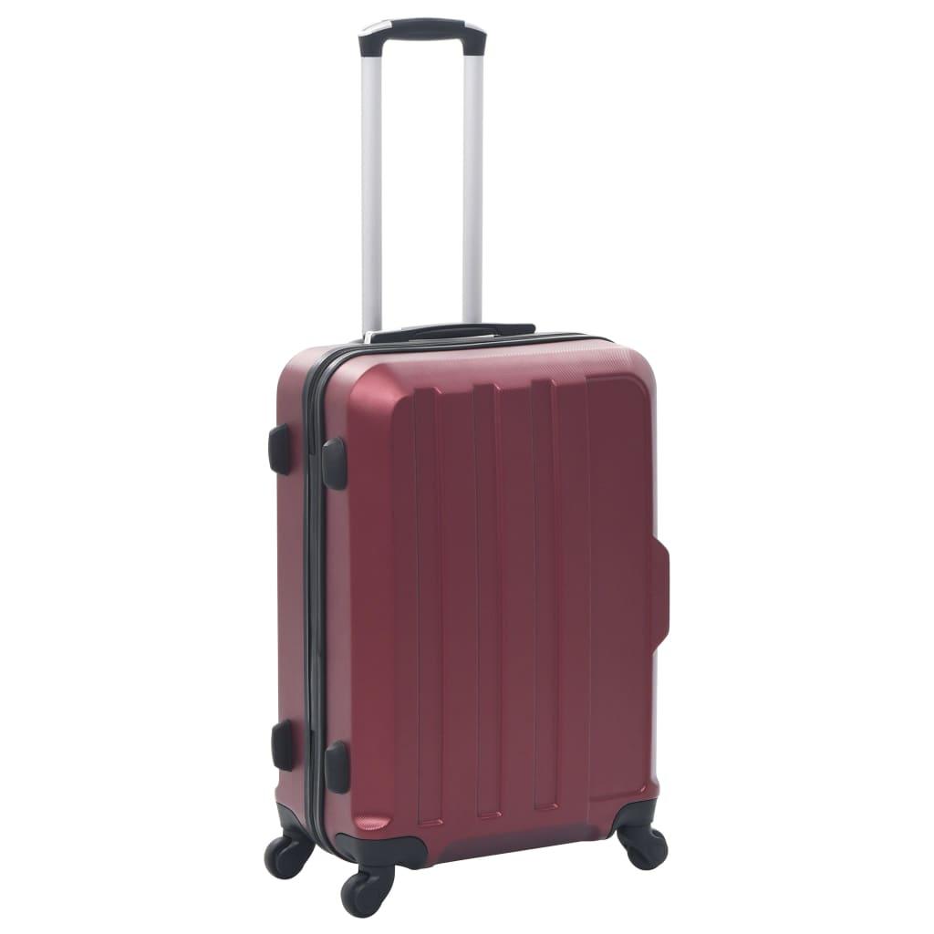 VidaXL 3 delige Harde kofferset ABS wijnrood