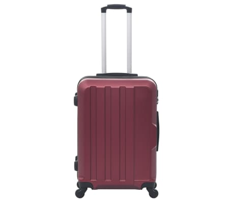 vidaXL Juego de maletas rígidas ruedas trolley 3 pzas rojo tinto ABS[3/8]