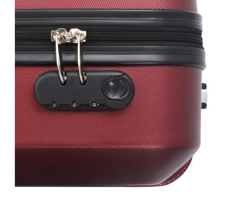 vidaXL Juego de maletas rígidas ruedas trolley 3 pzas rojo tinto ABS[8/8]