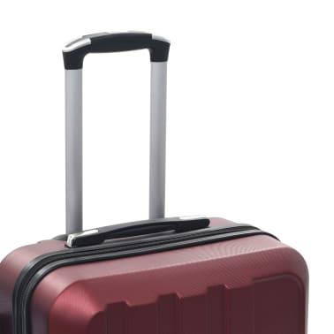 vidaXL Juego de maletas rígidas ruedas trolley 3 pzas rojo tinto ABS[7/8]