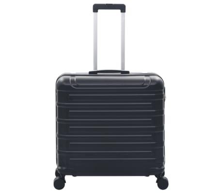 vidaXL Juego de maletas rígidas con ruedas trolley 2 piezas negro ABS[4/9]