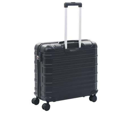 vidaXL Juego de maletas rígidas con ruedas trolley 2 piezas negro ABS[5/9]