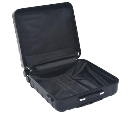 vidaXL Juego de maletas rígidas con ruedas trolley 2 piezas negro ABS[7/9]