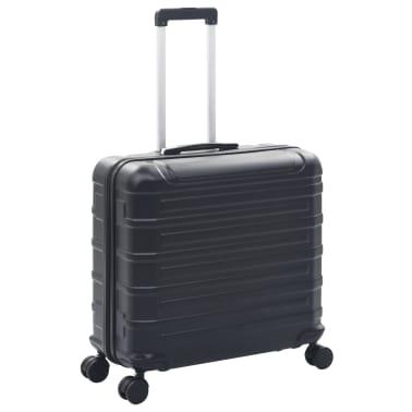 vidaXL Juego de maletas rígidas con ruedas trolley 2 piezas negro ABS[3/9]