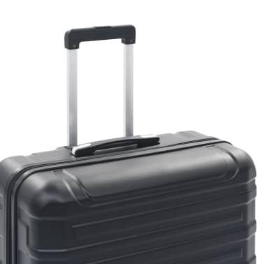 vidaXL Juego de maletas rígidas con ruedas trolley 2 piezas negro ABS[8/9]