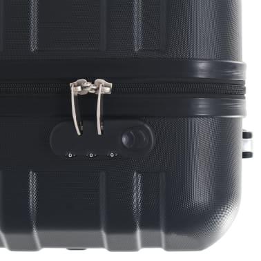 vidaXL Juego de maletas rígidas con ruedas trolley 2 piezas negro ABS[9/9]