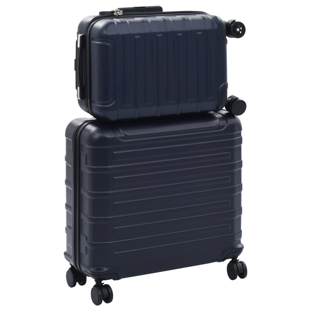 99991880 Hartschalen-Trolley-Set 2 Stk. Marineblau ABS