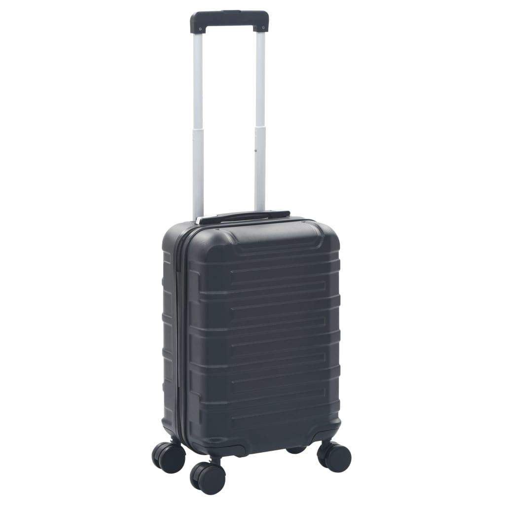 Skořepinový kufr na kolečkách černý ABS