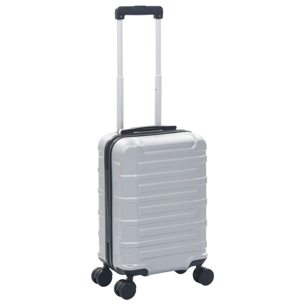 vidaXL Skořepinový kufr na kolečkách stříbrný ABS