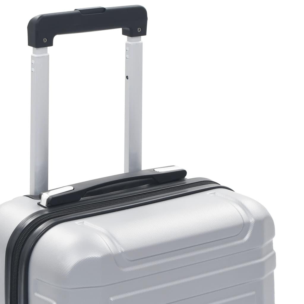 vidaXL Harde koffer ABS zilverkleurig