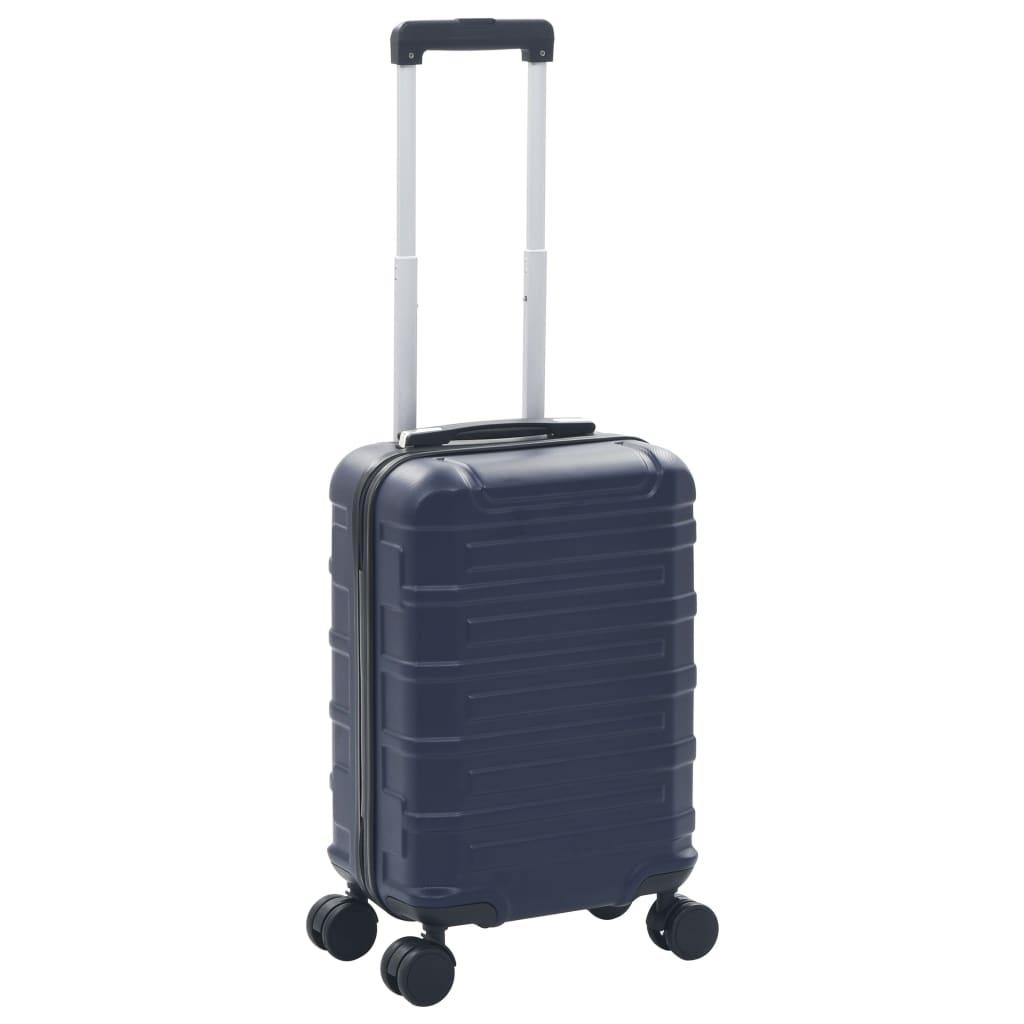 vidaXL Trolley a Custodia Rigida Blu Marino in ABS